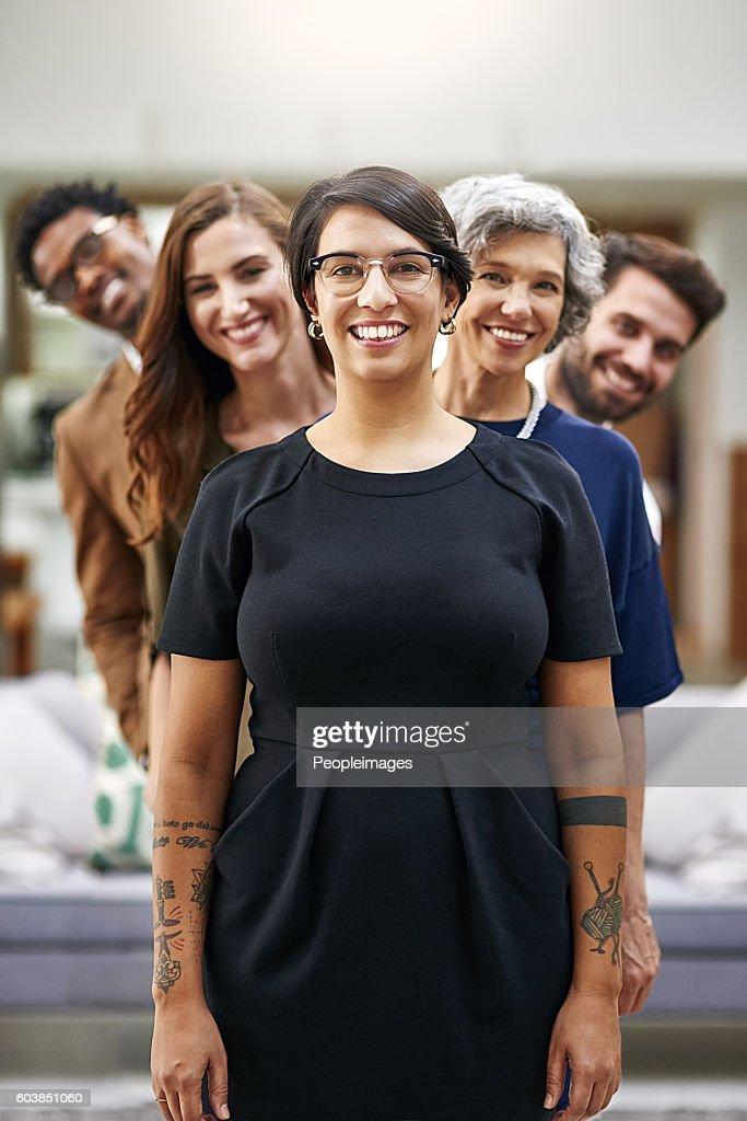 A equipe dos sonhos ao seu serviço : Foto de stock