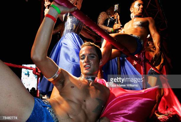 The Dreamboys float makes its way along Oxford Street during the 2007 Sydney Gay and Lesbian Mardi Gras parade March 3 2007 in Sydney Australia This...