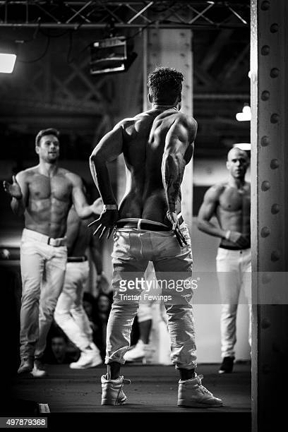 The Dreamboys perform on stage during the annual Sexpo convention at Olympia Exhibition Centre on November 13 2015 in London England