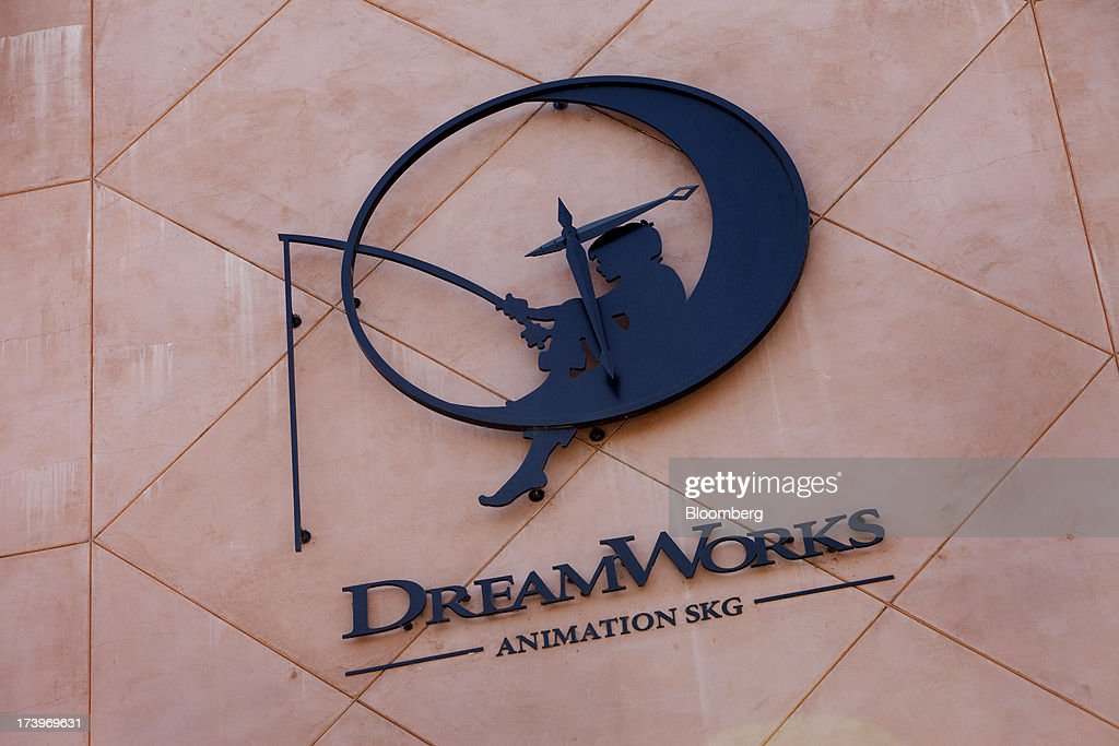 the dreamworks animation skg inc logo is displayed in the courtyard