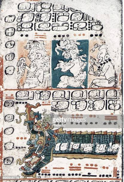 The Dresden Codex PreColumbian Mayan book of tthe 11th or 12th century Yucata
