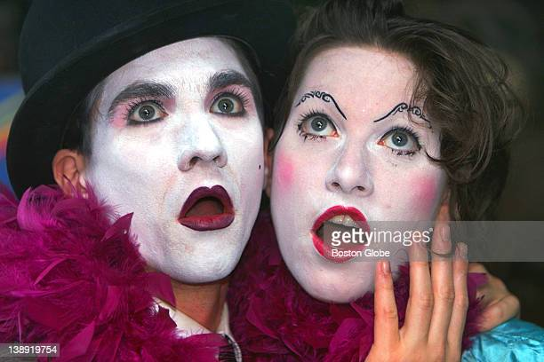 The Dresden Dolls band members singers Amanda Palmer right and Brian Viglione