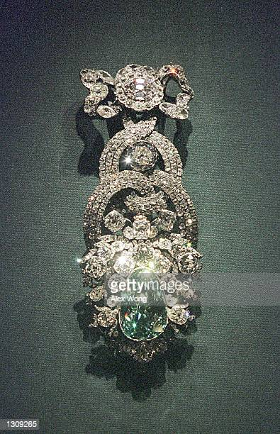 The Dresden Green Diamond is shown on display October 12 2000 at the National Museum of Natural History in Washington DC The 41carat diamond is the...