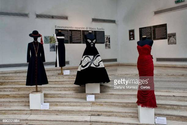 The dresses created by the Fontana sisters dresses exposed for the birthday celebration for Micol Fontana who is 100 years old the last of the three...