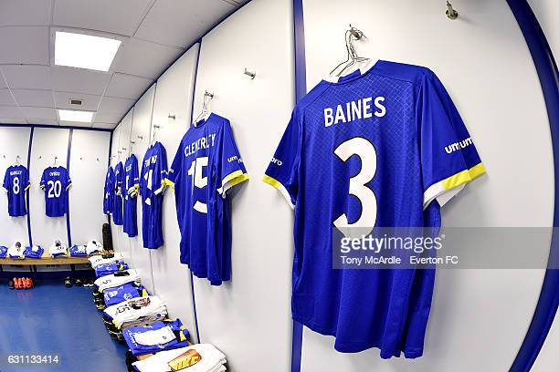 The dressing room at Goodison Park beforeThe Emirates FA Cup Third Round match between Everton and Leicester City at Goodison Park on January 7 2017...