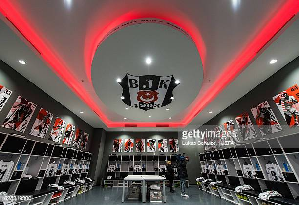The dressing room of Besiktas is seen prior to the UEFA Champions League match between Besiktas JK and SL Benfica at Vodafone Arena on November 23...