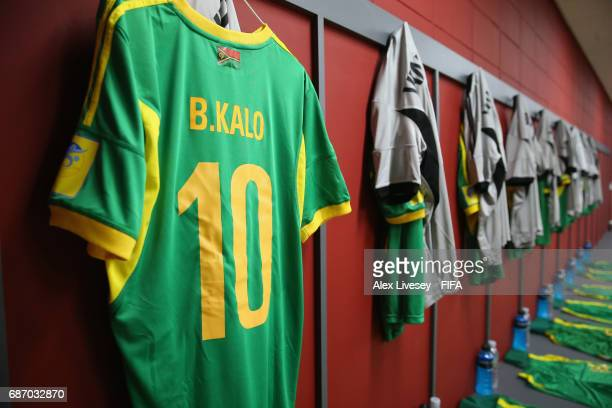 The dressing room of Vanuatu is seen prior to the FIFA U20 World Cup Korea Republic 2017 group B match between Venezuela and Vanuatu at Daejeon World...