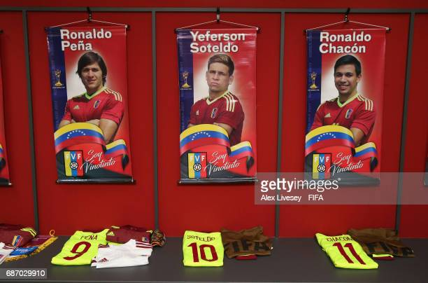 The dressing room of Venezuela is seen prior to the FIFA U20 World Cup Korea Republic 2017 group B match between Venezuela and Vanuatu at Daejeon...