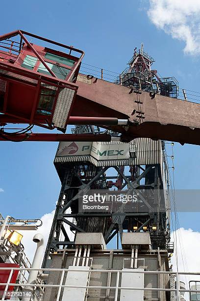 The drilling tower stands on the Petroleos Mexicanos Bicentennial deep sea crude oil platform in the waters off Tamaulipas Mexico on Friday Sept 21...