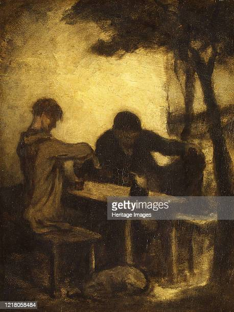 The Drinkers by 1861 Artist Honore Daumier