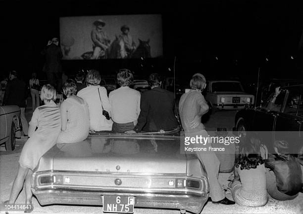 The drivein of Rungis on August in 1970
