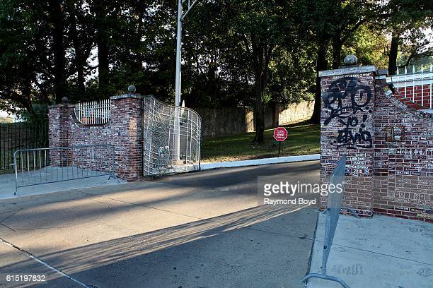The driveway entrance to Graceland home of the late Elvis Presley in Memphis Tennessee on October 3 2016