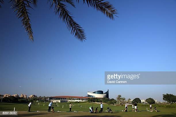 The driving range and academy at the Four Seasons Golf Club at Dubai Festival City on November 19 2008 in Dubai