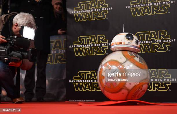 The Droid BB8 poses on the red carpet at the German premiere of the new film 'Star Wars:The Force Awakens' in the Zoo Palast cinema...