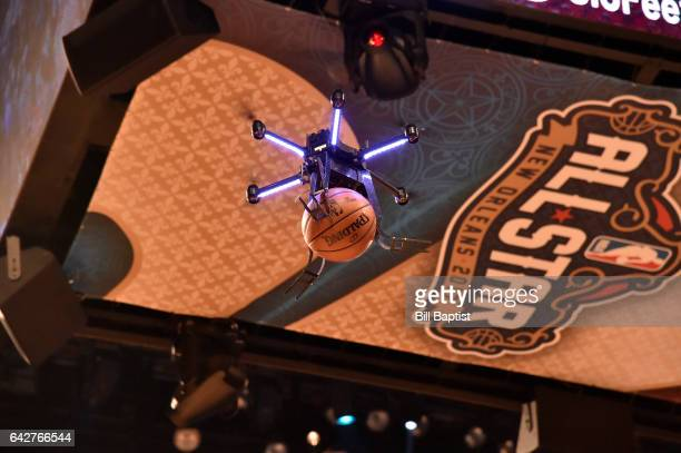 The Drone used during the Verizon Slam Dunk Contest on State Farm AllStar Saturday Night as part of the 2017 NBA AllStar Weekend on February 18 2017...