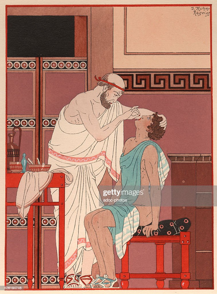 Illustration from the Works of Hippocrates by Joseph Kuhn-Regnier : News Photo