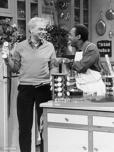 "The Drum Major"" Episode 17 -- Air Date -- Pictured: Earle Hyman as Russell Huxtable, Bill Cosby as Dr. Heathcliff 'Cliff' Huxtable"