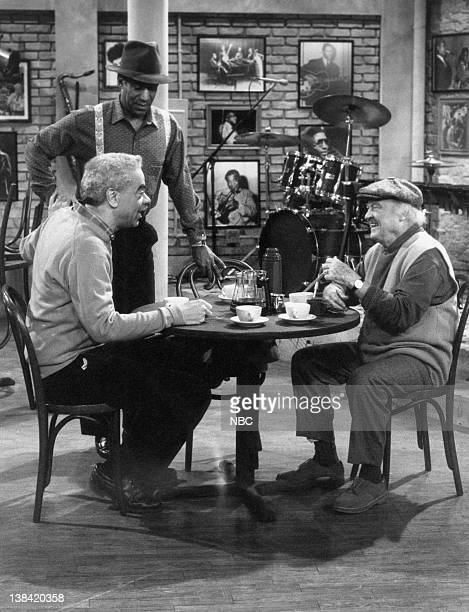 "The Drum Major"" Episode 17 -- Air Date -- Pictured: Earle Hyman as Russell Huxtable, Bill Cosby as Dr. Heathcliff 'Cliff' Huxtable, Dub Taylor as..."
