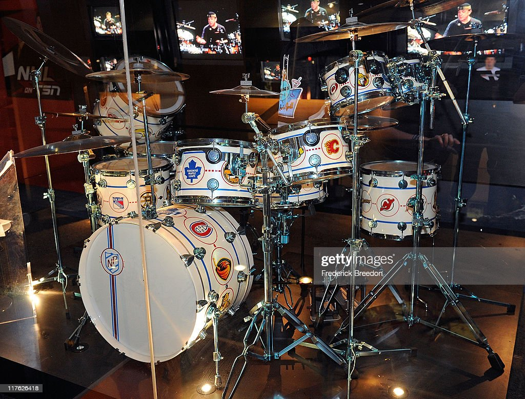 The Drum Set Used By Rush Drummer Neil Peart To Record Hockey Night In Canada