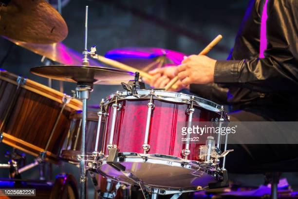 The drummer in action.