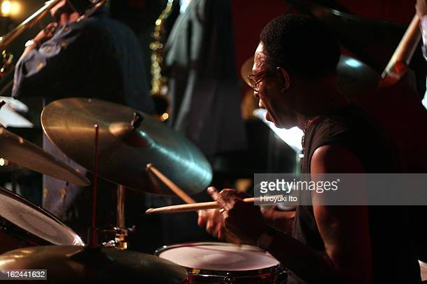 The drummer Louis Hayes' Rising Stars performing at Jazz Standard on Friday night, August 10, 2007. The performance was part of 6-night celebration...