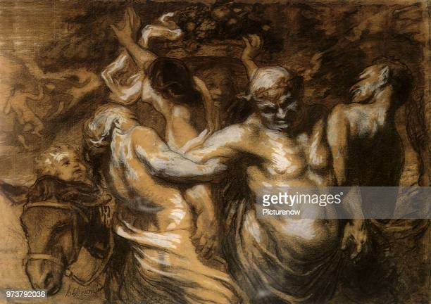 The Drunkenness of Silenus Daumier Honore 1848