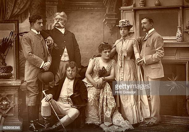 The Drury Lane Company in 'A Run of Luck' at the Drury Lane Theatre London 1886 Left to right EW Gardiner William Rignold Harry Nicholls Sophie Eyre...