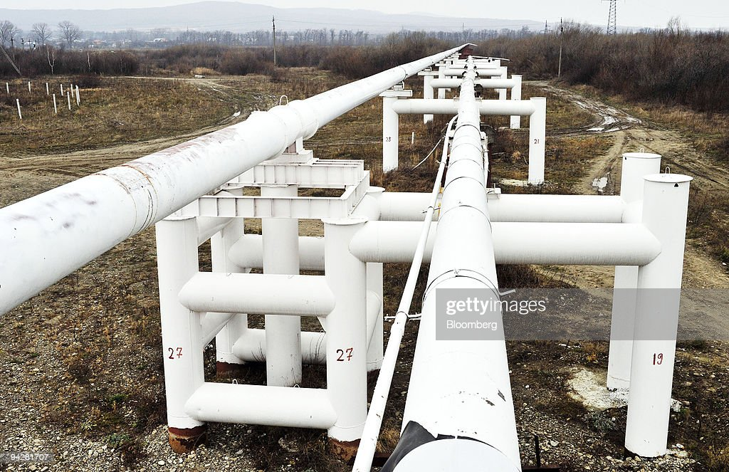 Gas Pipes And Fuel Transit From Russia To Western Europe : News Photo