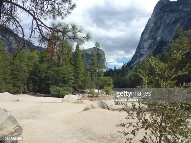 The dry river bed of the Tenaya Creek named Mirror Lake in Yosemite Valley in Yosemite National Park in California USA 02 September 2013 The Mirror...
