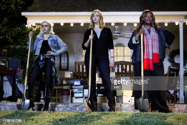"The Dubby"" Episode 207 -- Pictured: Mae Whitman as Annie Marks, Christina Hendricks as Beth Boland, Retta as Ruby Hill --"
