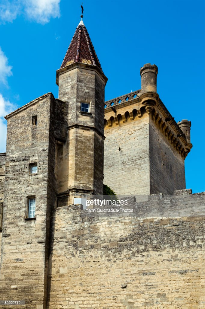 The ducal castle, Uzes, Gard, Occitanie, France : Stock Photo