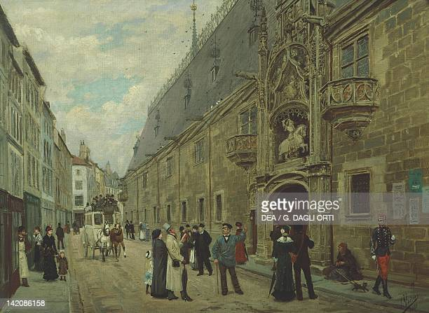 The Ducal Palace in Nancy by Jules Voirin France 19th Century