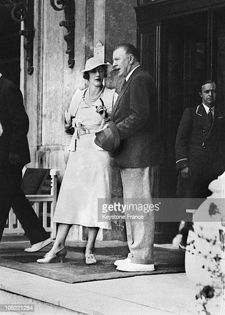 The Duchess And The Duke Of Westminster In Holiday In Biarritz August 1934