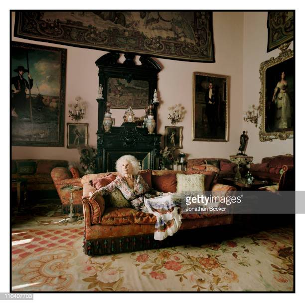 The Duchess of Alba Dona Cayetana FitzJames Stuart is photographed in the piano room of the Palacio de Duenas for Vogue Espana on March 1517 2010 in...