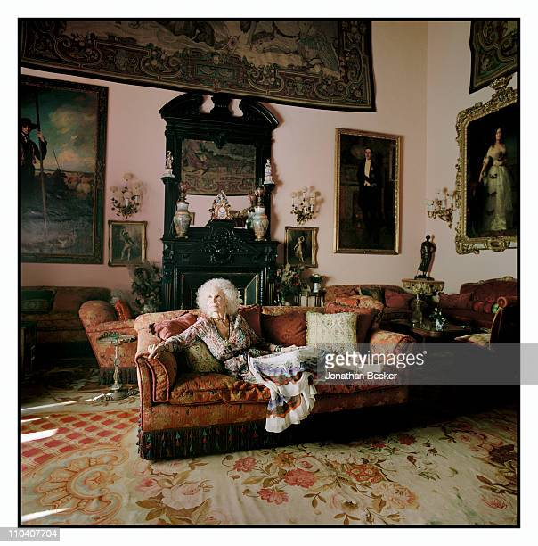 The Duchess of Alba, Dona Cayetana Fitz-James Stuart is photographed in the piano room of the Palacio de Duenas for Vogue Espana on March 15-17, 2010...