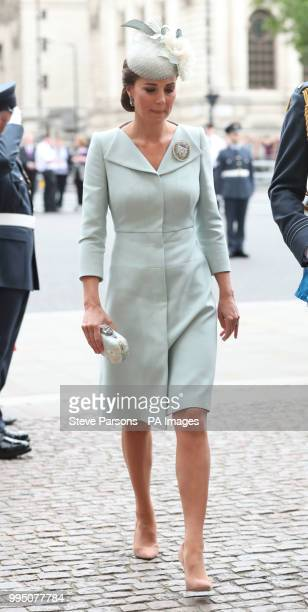 The Duchess of Cambridge arrives at a service at Westminster Abbey London to mark the centenary of the Royal Air Force