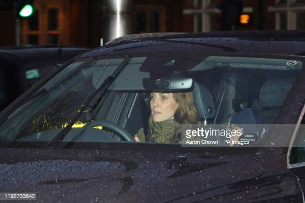 The Duchess of Cambridge arrives at Kensington Palace, London, in the wake of the announcement that the Duke and Duchess of Sussex will take a step...