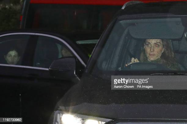 The Duchess of Cambridge arrives at Kensington Palace London in the wake of the announcement that the Duke and Duchess of Sussex will take a step...