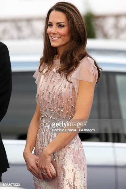 The Duchess of Cambridge arrives at the 10th annual ARK Gala Dinner at Kensington Palace in Kensington London