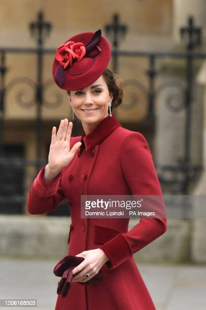 The Duchess of Cambridge arrives at the Commonwealth Service at Westminster Abbey London on Commonwealth Day The service is the final official...