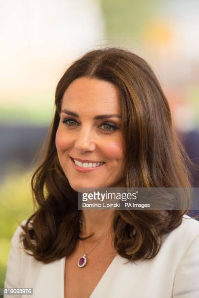 The Duchess of Cambridge arrives to attend a young entrepreneurs event at the Spire Building Warsaw on day one of a fiveday tour of Poland and...