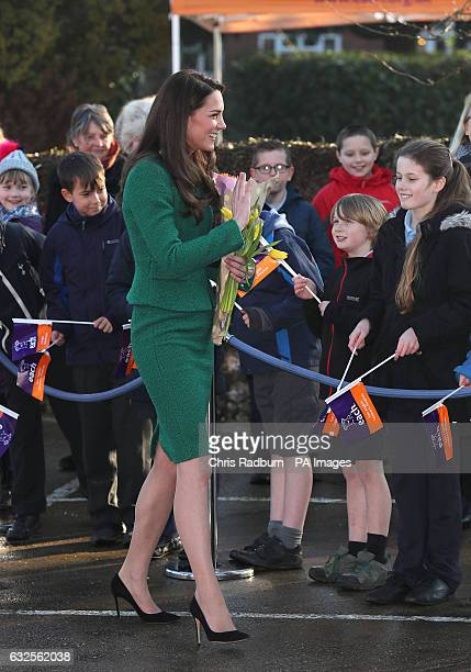 The Duchess of Cambridge arriving at East Anglia's Children's Hospices in Quidenham Norwich as it continues fundraising for a new purposebuilt...