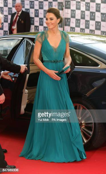 The Duchess of Cambridge arriving at the Our Greatest Team Rises gala dinner at the Royal Albert Hall London
