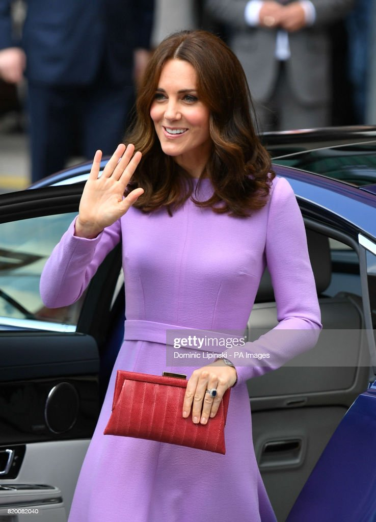 The Duchess of Cambridge arriving for a visit to the Maritime Museum in Hamburg, Germany.