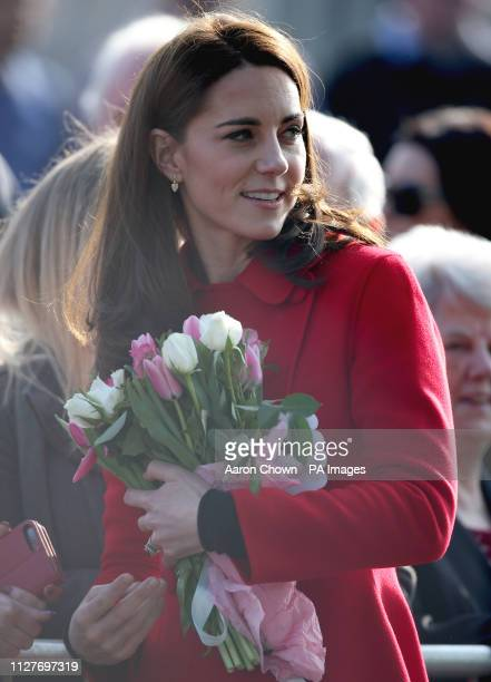 The Duchess of Cambridge arriving for a visit to Windsor Park Belfast as part of a two day visit to Northern Ireland