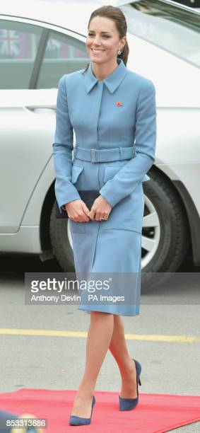 The Duchess of Cambridge attends a Wreath-laying and Commemoration at the War Memorial in Seymour Square, Blenheim, during their official tour to New...