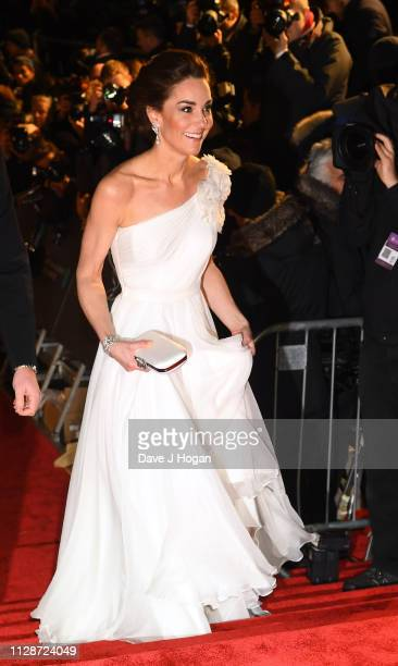 The Duchess of Cambridge attends the EE British Academy Film Awards at Royal Albert Hall on February 10 2019 in London England