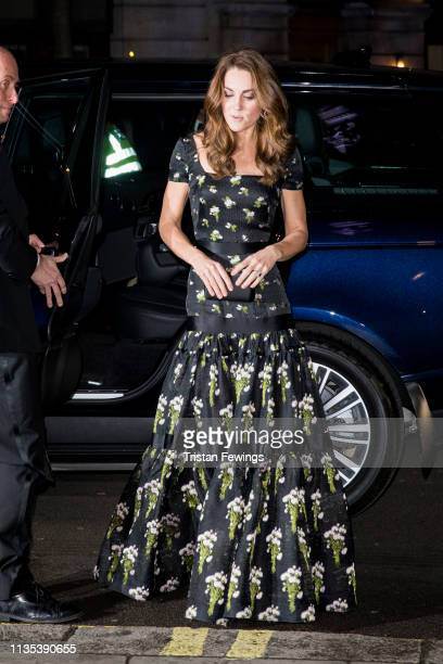 The Duchess of Cambridge attends the Portrait Gala at National Portrait Gallery on March 12, 2019 in London, England.