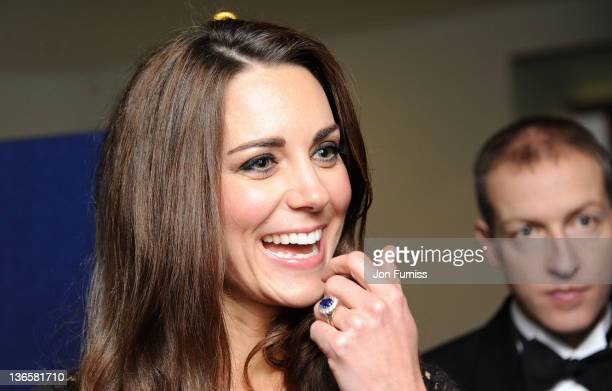 """The Duchess of Cambridge attends the """"War Horse"""" UK film premiere at the Odeon Leicester Square on January 8, 2012 in London, England."""