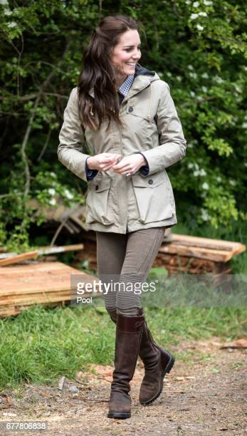 The Duchess of Cambridge during a visit to a Farms for Children farm on May 3 2017 in Arlingham Gloucestershire The Duchess of Cambridge visited...